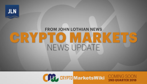 Crypto Markets News from John Lothian News – May 30, 2018