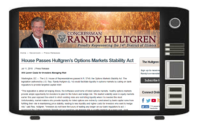 Hultgren Questions Powell On Options Market;  Pound Volatility; VIX Futures Settlement