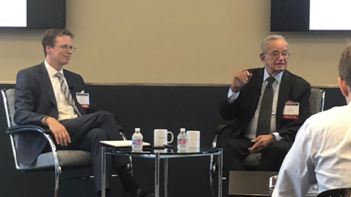 Leo Melamed Looks Back and Forward in Fireside Chat