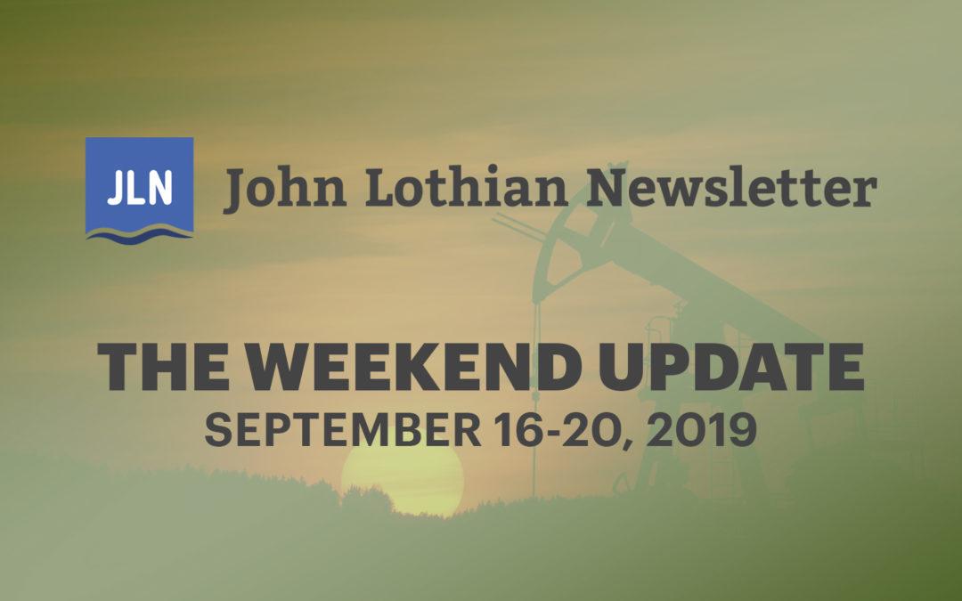 The Weekend Update: September 16-20, 2019
