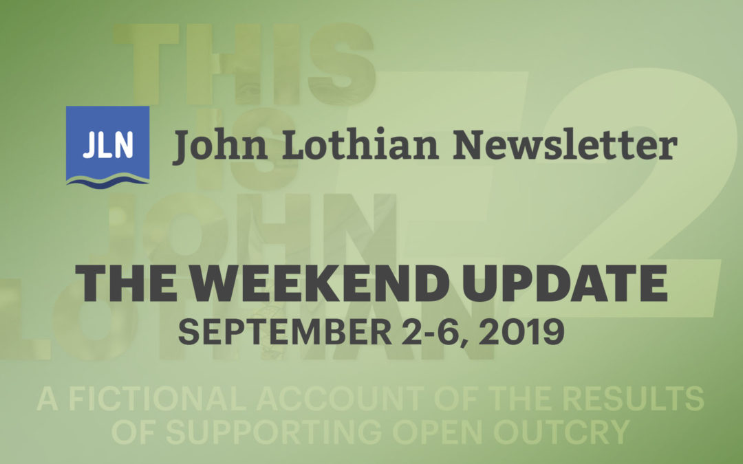 The Weekend Update (September 2 – 6, 2019)