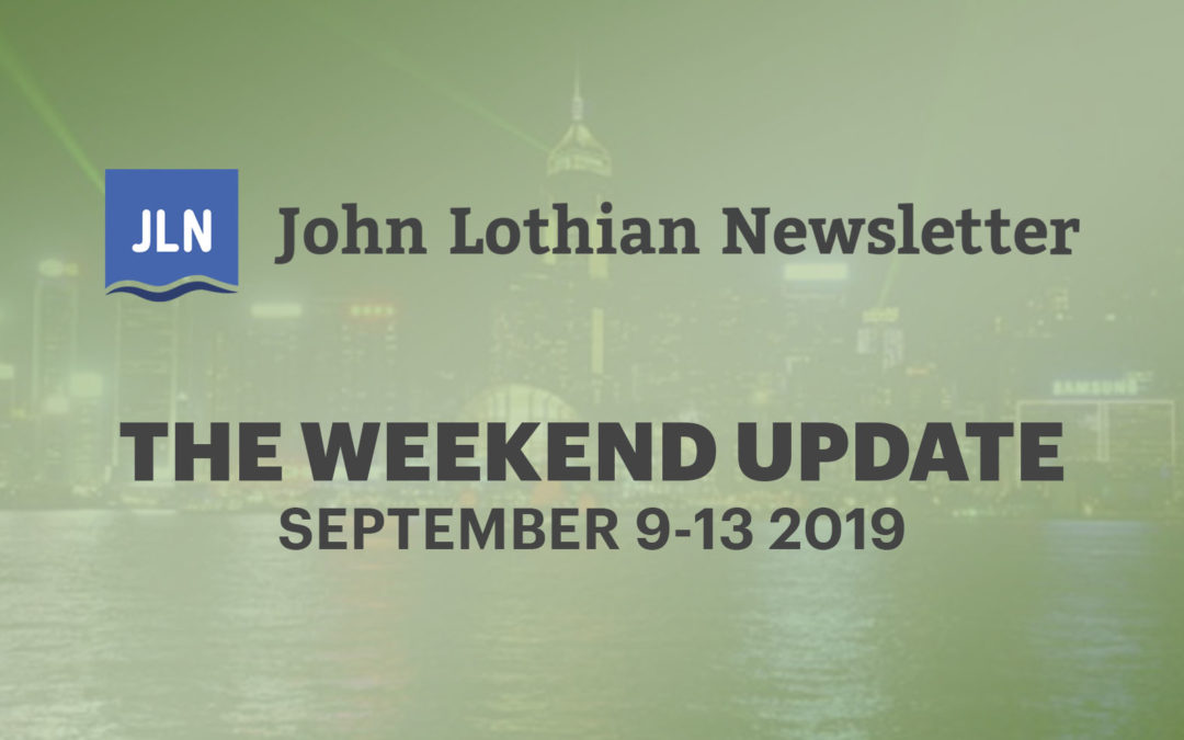 The Weekend Update: September 9 – 13, 2019