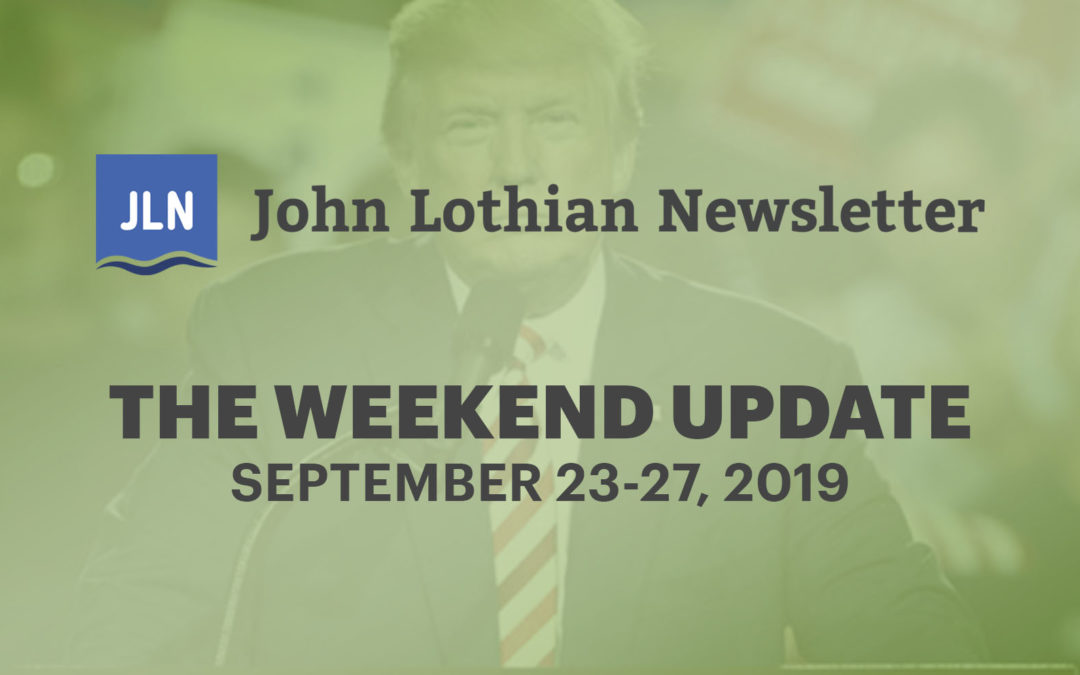 The Weekend Update: September 23-27, 2019