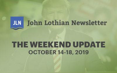 The Weekend Update: October 14-18, 2019