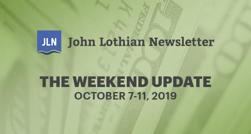 The Weekend Update: October 7-11, 2019
