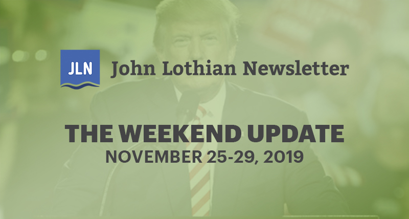 The Weekend Update: November 25-29 2019