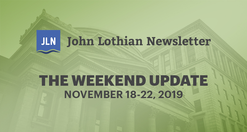 The Weekend Update: November 18-22, 2019