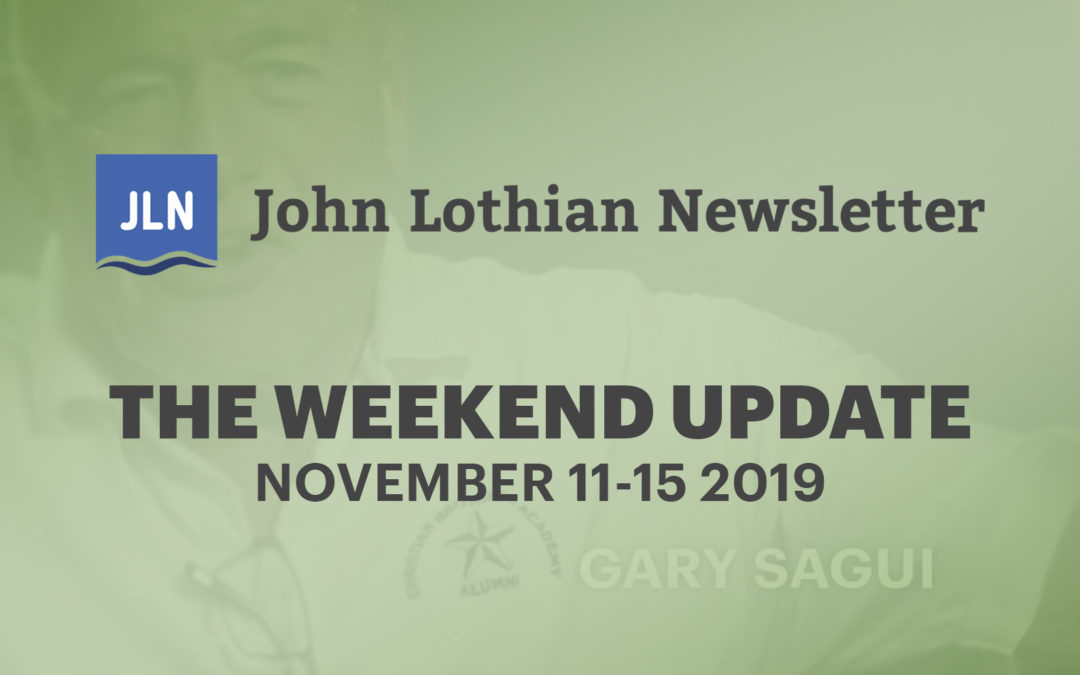 The Weekend Update: November 11-15, 2019