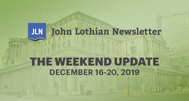 The Weekend Update: December 16-20, 2019