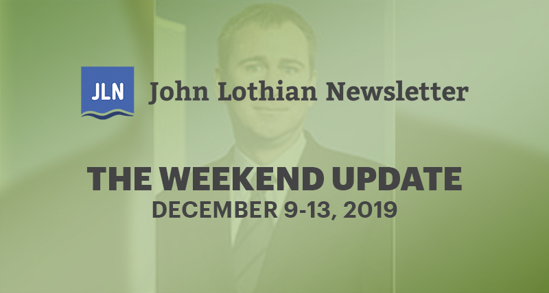 Weekend Update: December 9-13, 2019