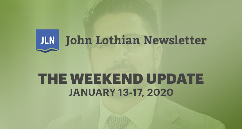 The Weekend Update: January 6-17, 2020