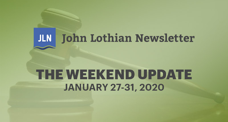 The Weekend Update: January 27-31, 2020
