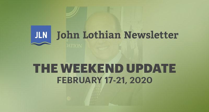 The Weekend Update: February 17-21, 2020
