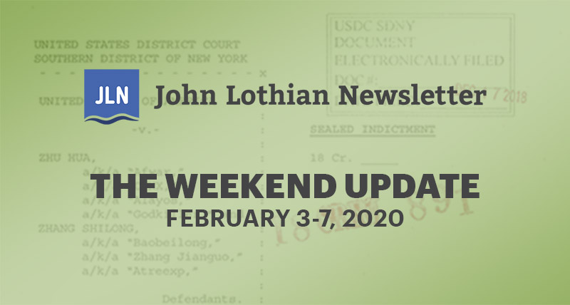 The Weekend Update: February 3-7, 2020