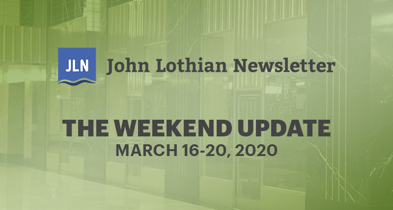 The Weekend Update: March 16-20, 2020