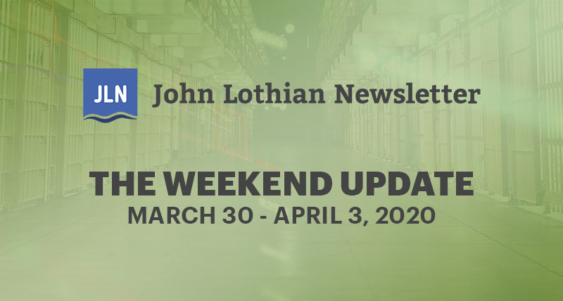 The Weekend Update: March 30-April 3, 2019