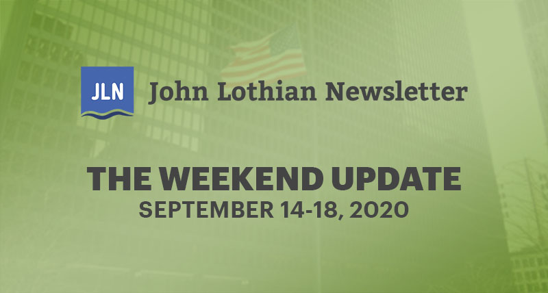 THE WEEKEND UPDATE: SEPTEMBER 14-18, 2020