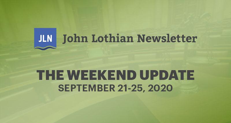 The JLN Weekend Update: September 21-25, 2020