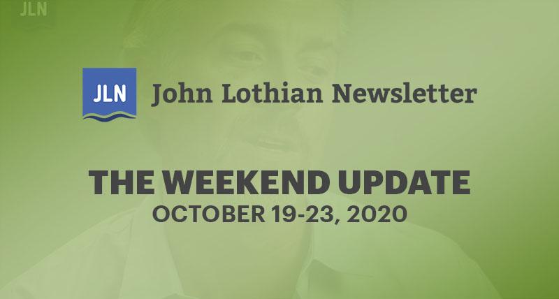 THE WEEKEND UPDATE: OCTOBER 19-23, 2020