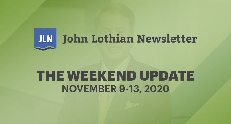THE WEEKEND UPDATE: NOVEMBER 9-13, 2020