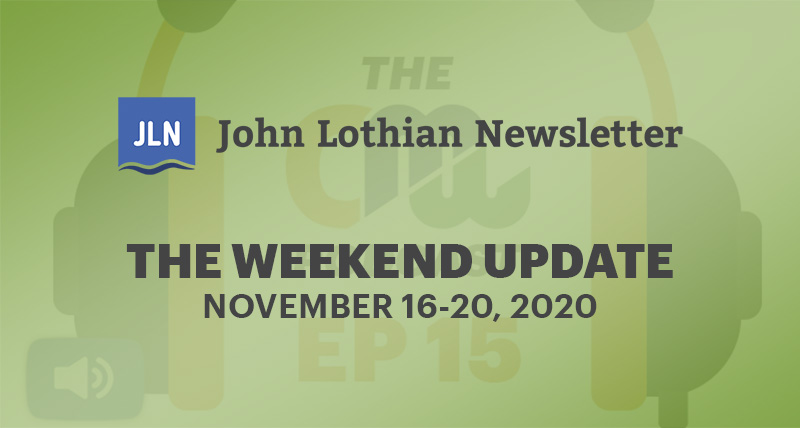 THE WEEKEND UPDATE: NOVEMBER 16-20, 2020