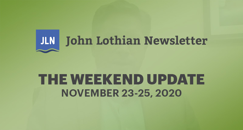 THE WEEKEND UPDATE: NOVEMBER 23-25, 2020