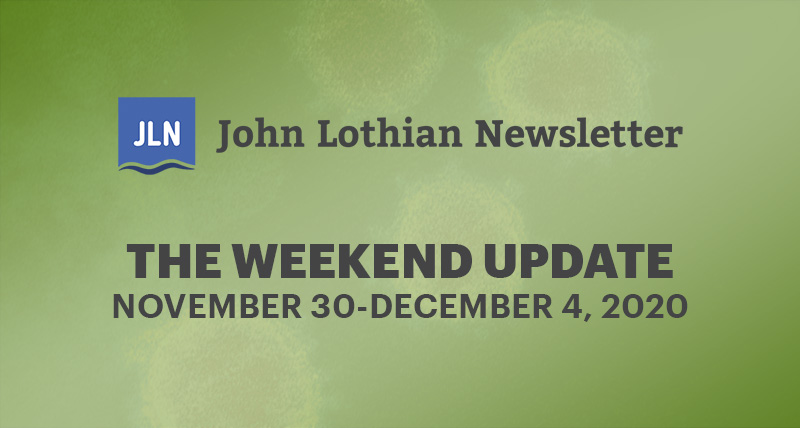 THE WEEKEND UPDATE: NOVEMBER 30-December 4, 2020
