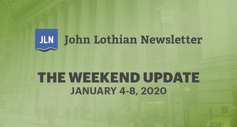 THE WEEKEND UPDATE: JANUARY 4-8, 2020