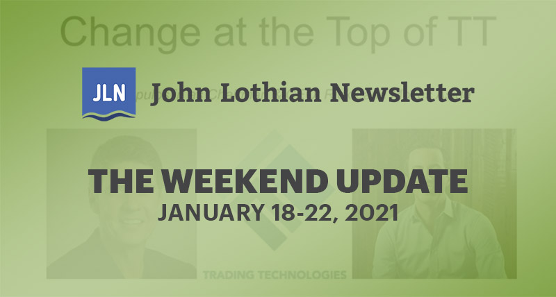 THE WEEKEND UPDATE: JANUARY 18-22, 2021