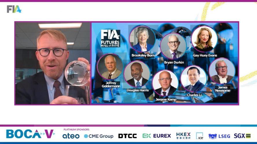 FIA, Boca, virtual, Futures Industry Hall of Fame, Walt Lukken, pandemic,