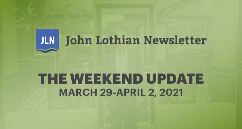 THE WEEKEND UPDATE: MARCH 29-2, 2021